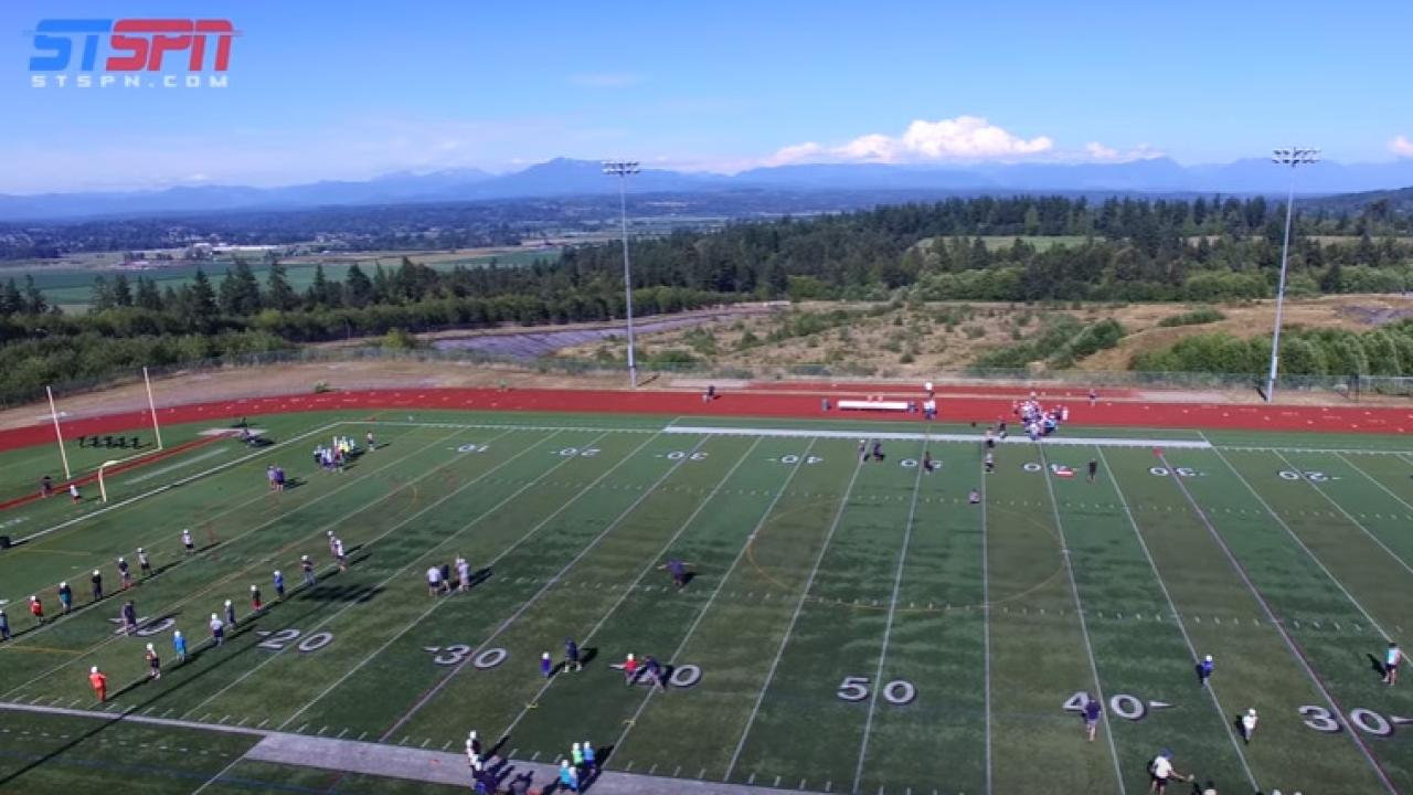 Glacier Peak Youth Football Camp Fly Over